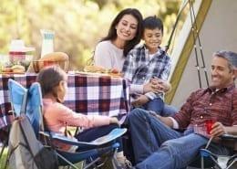 Vacanza in campeggio in famiglia