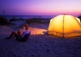 campeggio in spiaggia