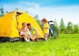 campeggio con bambino