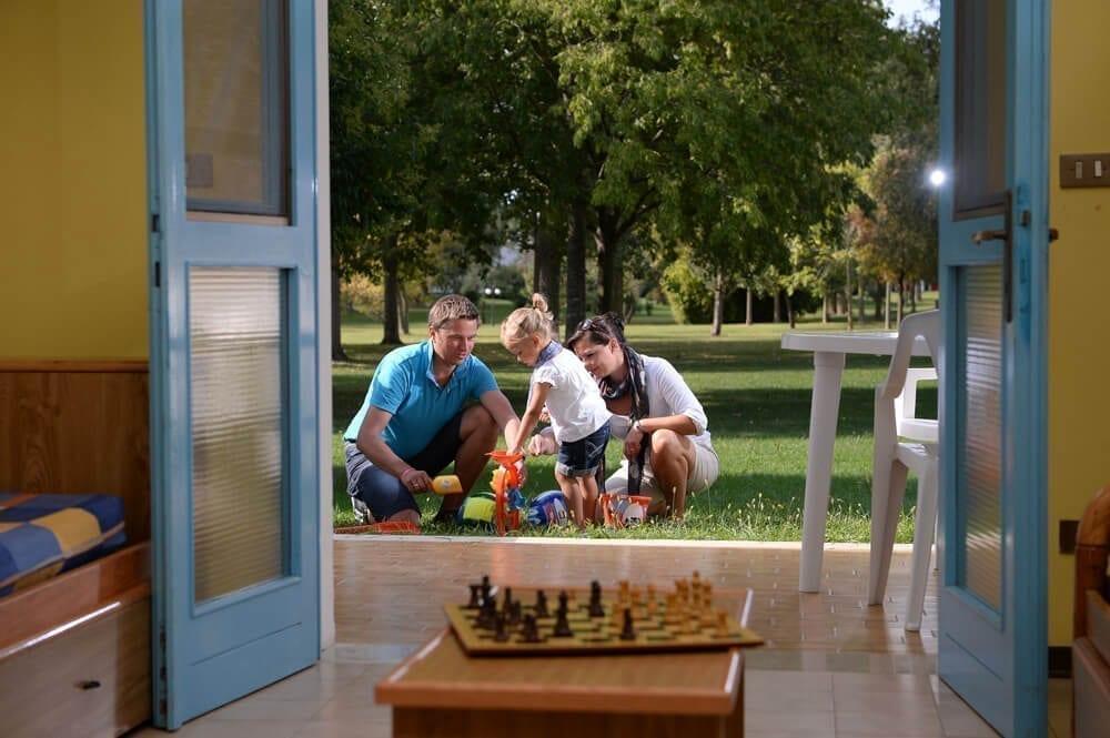 bungalow con famiglia