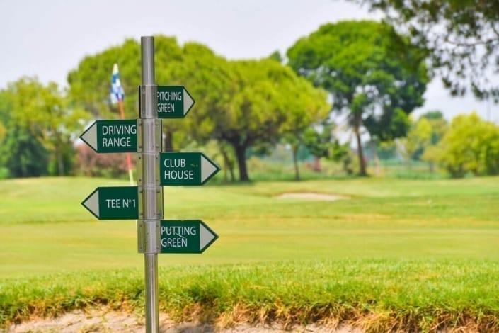indicazioni golf