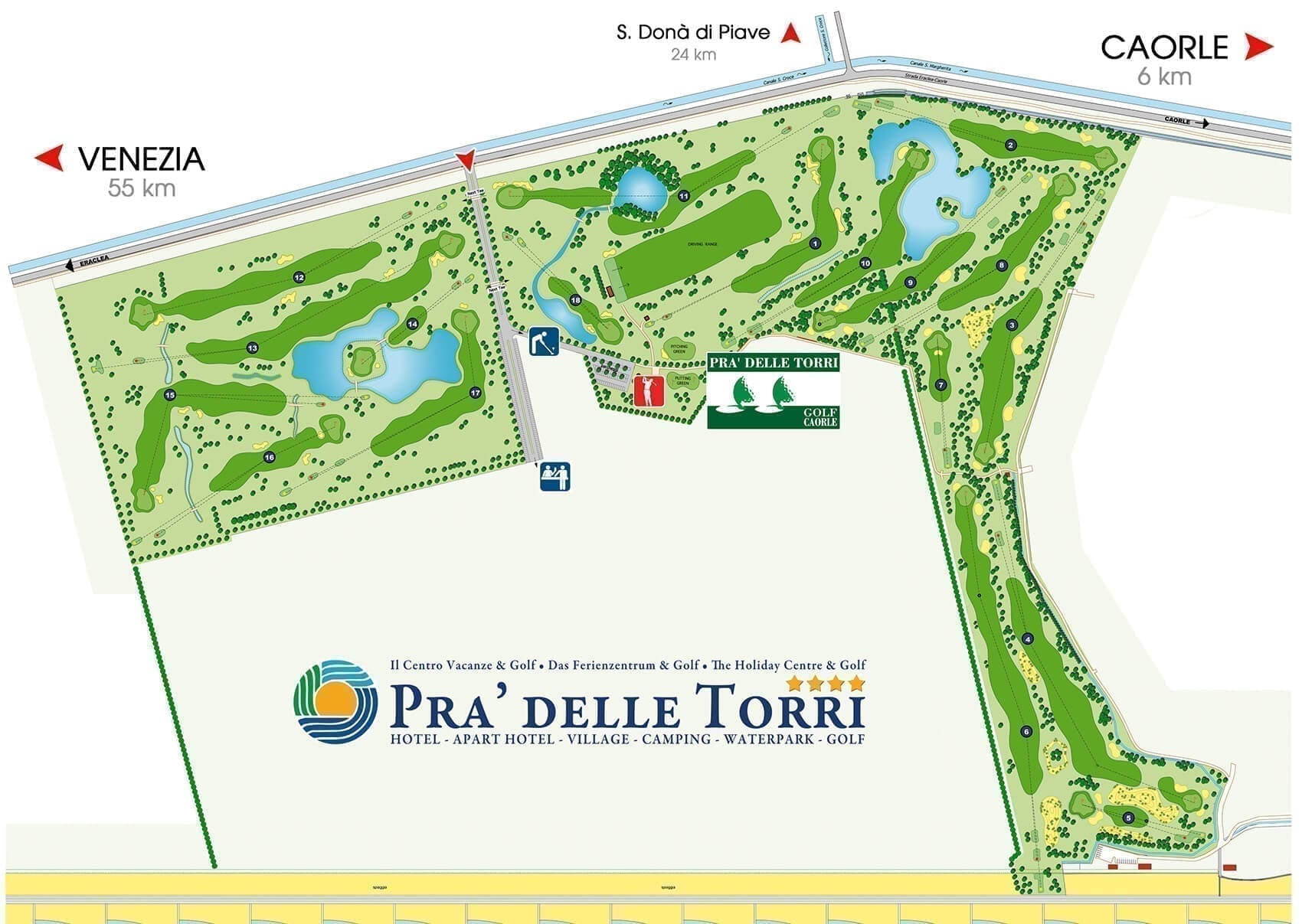 golf camp caorle map