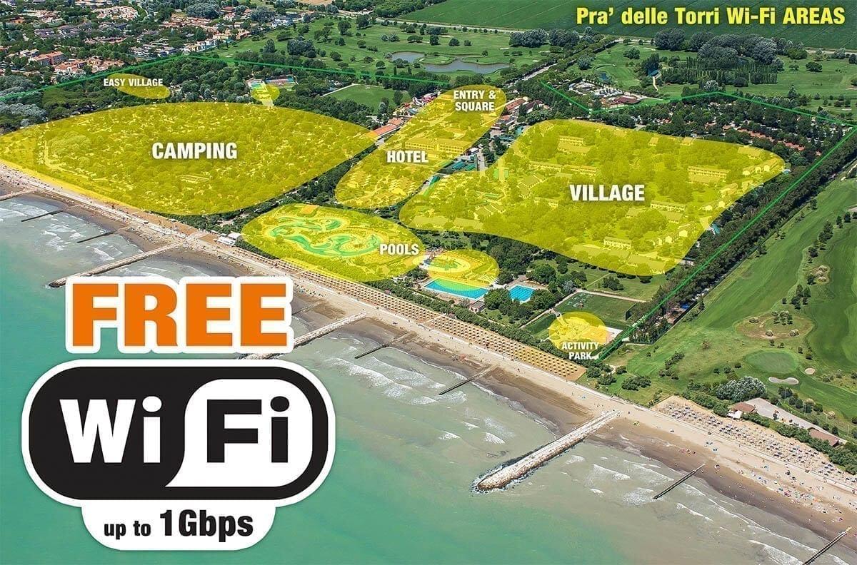 Wi-fi gratuito Pra' delle Torri