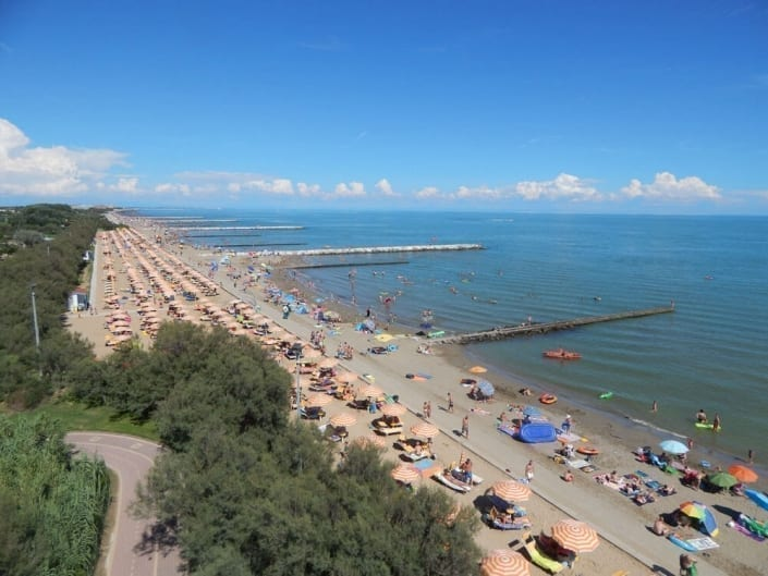 panoramica litorale caorle