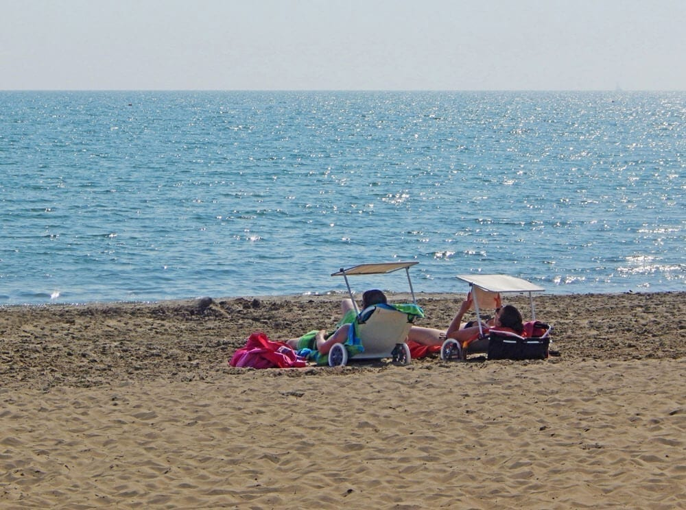 sdraio in spiaggia di caorle