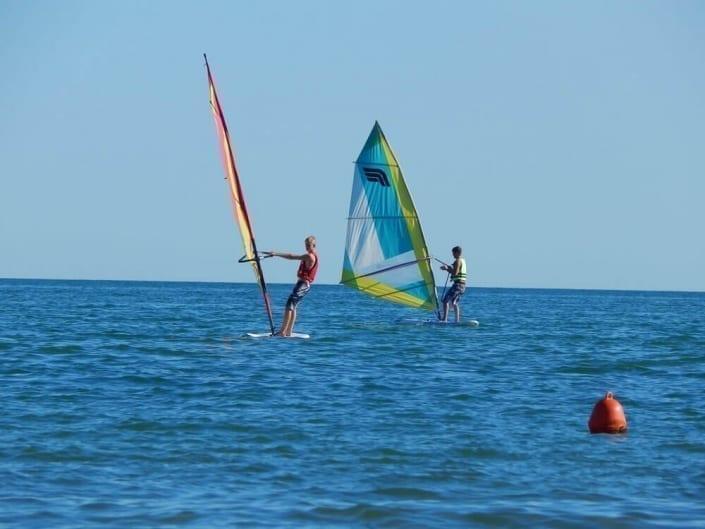 windsurf sul mare